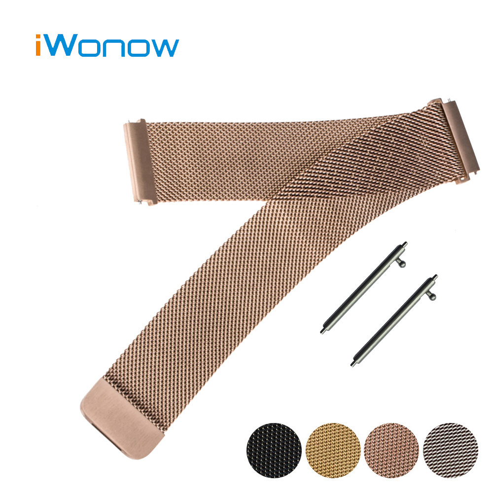 Milanese Stainless Steel Watch Band 16mm 18mm 20mm 22mm for Armani Magnetic Buckle Strap Quick Release Wrist Belt Bracelet 20mm 22mm 26mm easy fit milanese watchband quick release band for garmin fenix 3 hr 5x 5s magnet strap wrist belt bracelet
