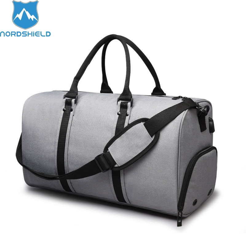 Nordshield Men Travel Bags Carry on Luggage Bags with USB Charging Men Duffel Bag High Capacity Weekend Bag Short Trip Handbag