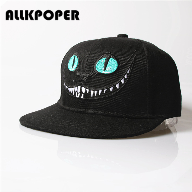 ALLKPOPER 2017 Alice Wonderland Cheshire Cat cartoon baseball caps BUGS BUNNY SYLVESTER hats for Men and Women snapback hiphop sylvester