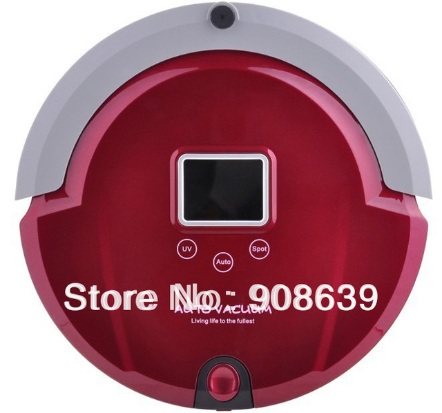 Multifunctional Bagless Vacuum Cleaner Robot(Sweep,Vacuum,Mop,Sterilize)LCD,Touch Button,Schedule Work,Virtual Wall,Auto Charge
