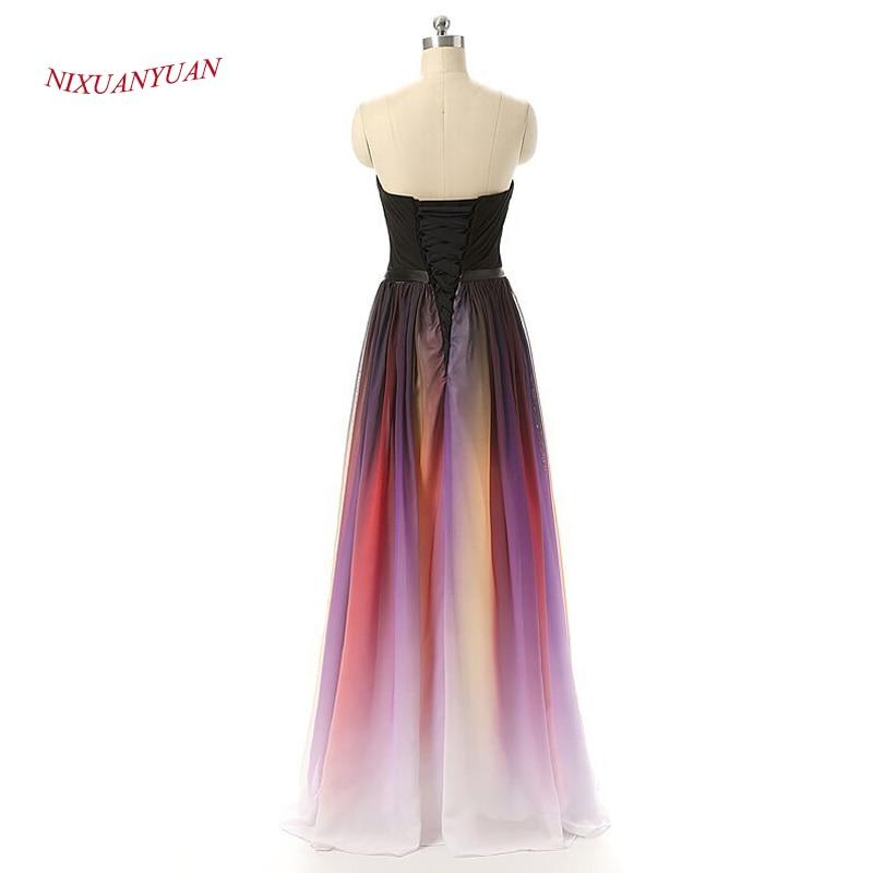 NIXUANYUAN Chiffon Long Party Dress 2017 Sweetheart A Line Prom Kjole - Spesielle anledninger kjoler - Bilde 6