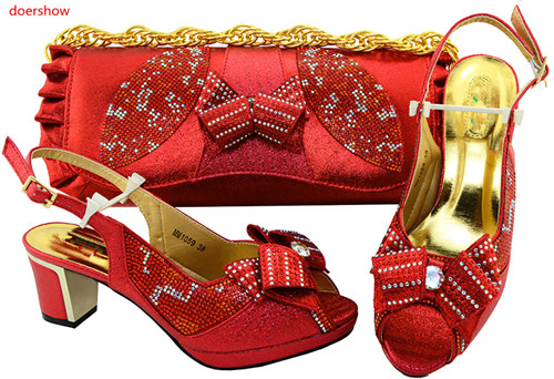 doershow African Shoes And Bags To Match High Quality Womwn Shoes and Bag Sets Italian Shoes And Bag Set LY5-25 doershow new arrival shoes and bag to match italian summer african style shoes and bag set italy ladies shoes and bag as1 33