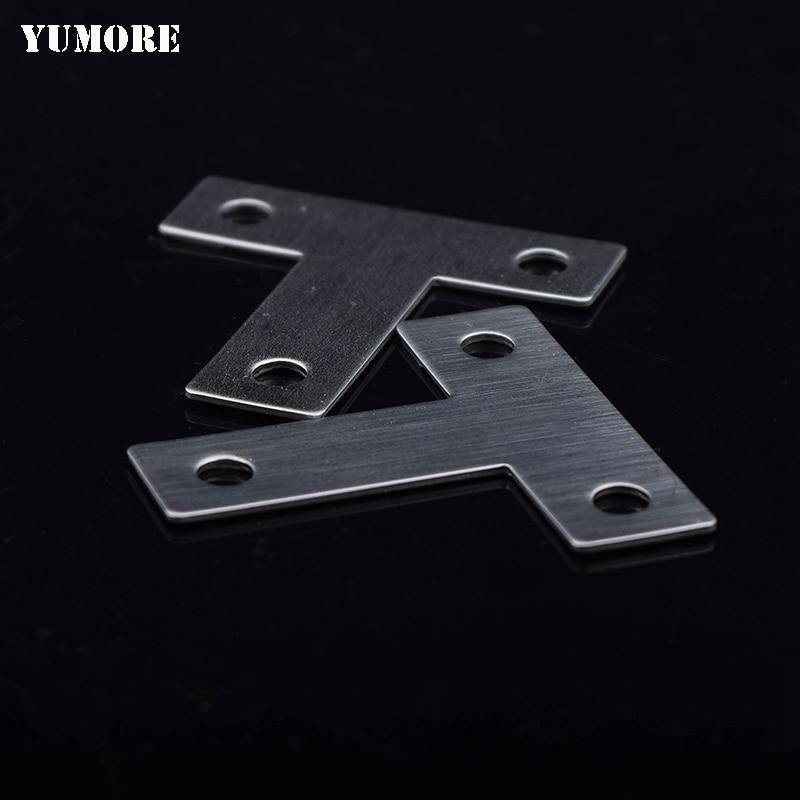 цена на Corner bracket stainless steel t bracket shelf support 100pcs/lot