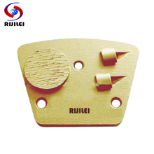 RIJILEI 3PCS/lot PCD Tipped Grinding Block Plate diamond grinding shoes for Removing Epoxy Glue Paint on Concrete Floor PCD3 цена