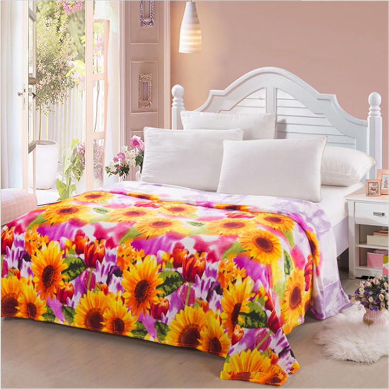 Winter print flannel blanket/authentic flannel single and double person cover carpet 200 * 230cm free delivery