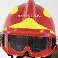 Продажа в комплекте (свободные очки + сильный фонарик сторонник) Высокое качество Европа F2 пожарный шлем