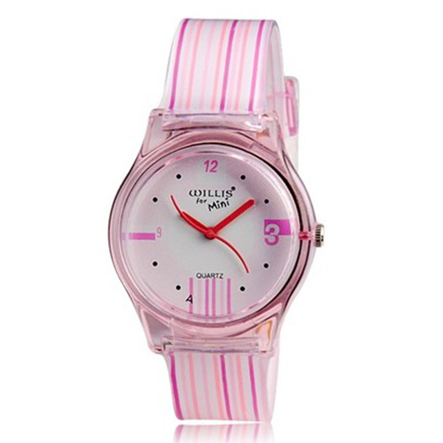 New Children Watch Fashion Brand Watches Quartz Wristwatches Waterproof Jelly Ki
