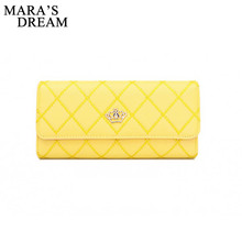 Plaid PU Leather Long Wallet