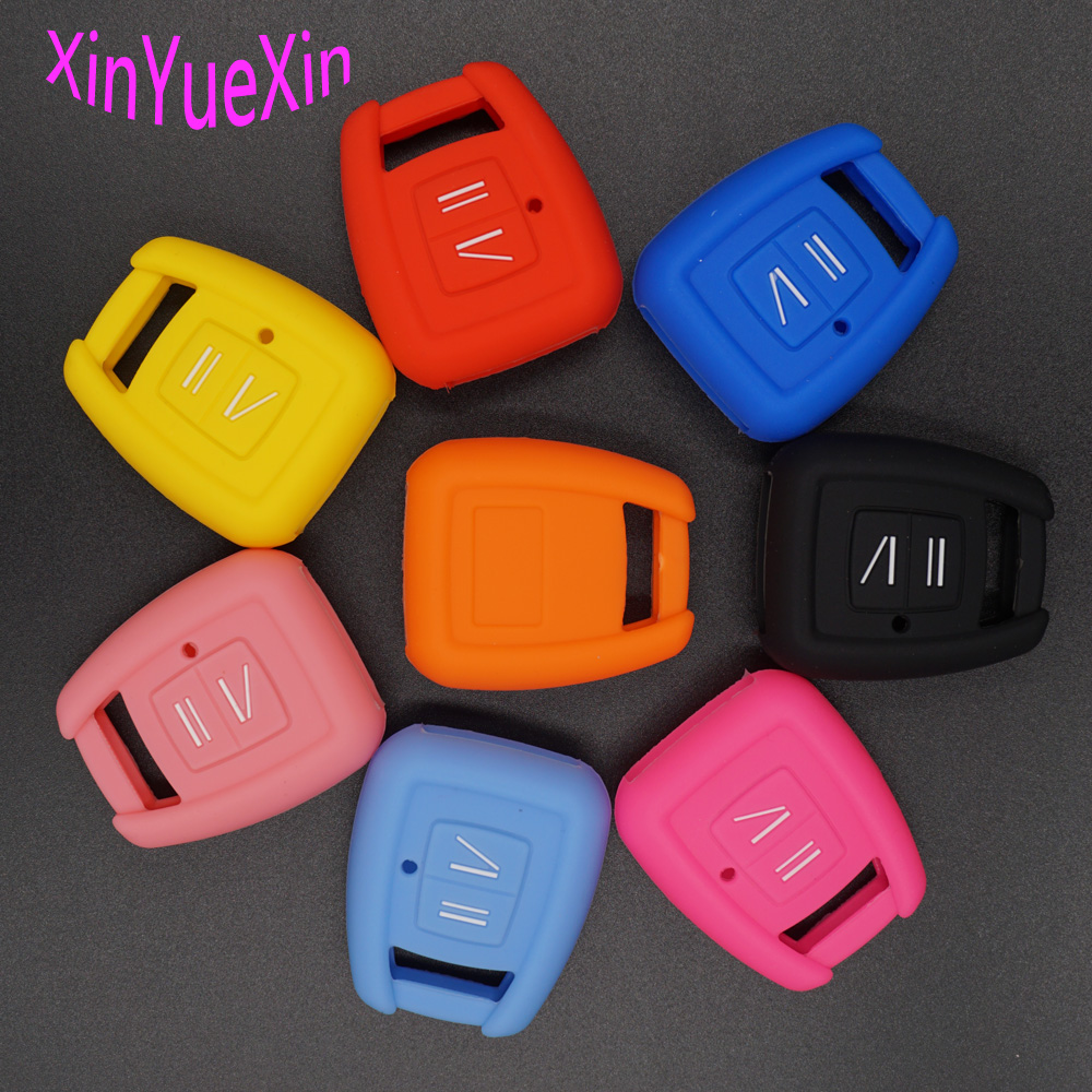 Xinyuexin Silicone Car Key Cover FOB Case For Opel Astra Zafira Vauxhall Vectra Omega Remote Key Case Keychain Car-styling xinyuexin silicone car key cover fob case for toyota altezza wish carina one button on side remote key car styling