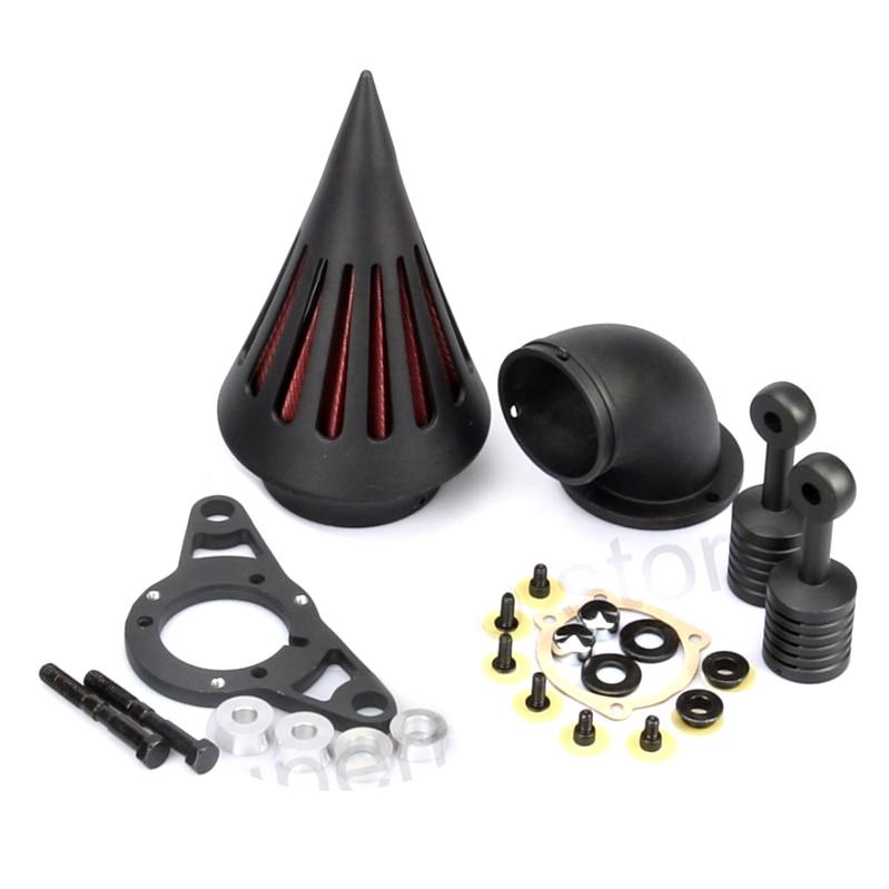 Black Spike Air Filter Harley Cross Bones air intake system harley Softail models 2008 2009