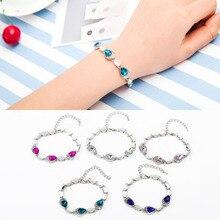 Ocean Heart Love Heart-shaped Peach Crystal Zircon Ladies Bracelet Jewelry Accessories Fantastic Wristlet Trinket Wholesale WD22
