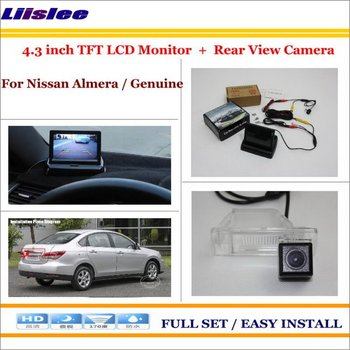 """Liislee For Nissan Almera / Genuine Car Rear Camera + 4.3"""" TFT LCD Screen Monitor = 2 in 1 Back Up Parking System"""