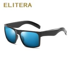 ELITERA Fashion Wide Temple Sunglasses Polarized Lens Brand Design Classic Large Size UV400 Sun Glasses