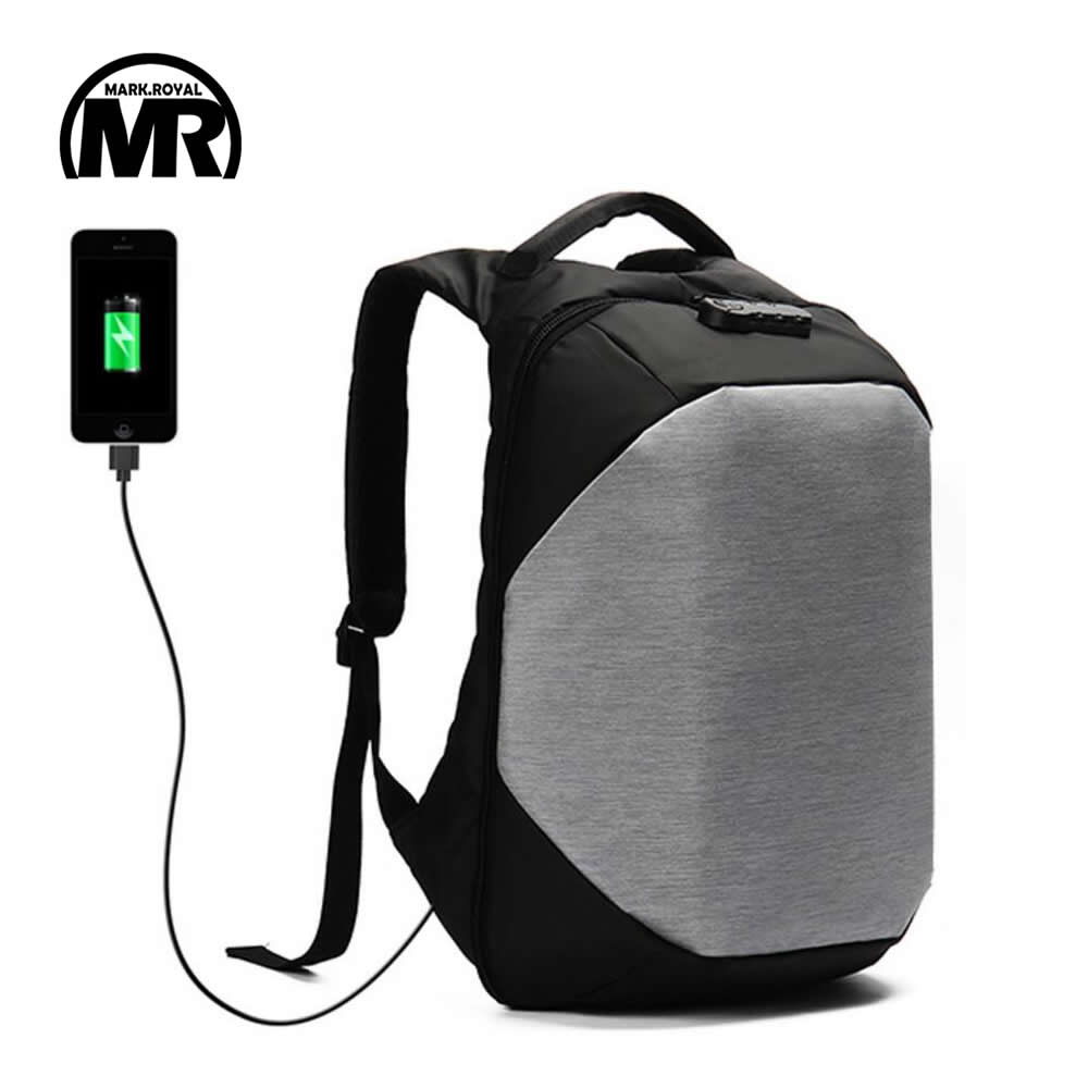 MARKROYAL Men Women Travel Backpack 15 6 inch Anti theft Password Lock External USB Charging Waterproof