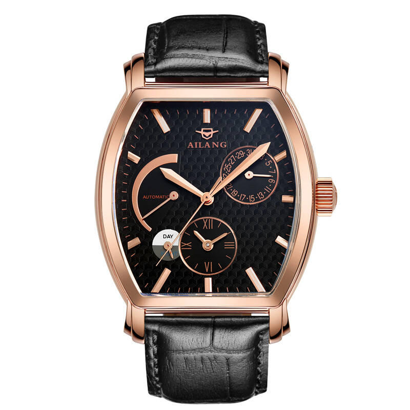 AILANG 5810 Switzerland watches men luxury brand automatic mechanical watch male watch barrel bucket fashion retro leather belt ailang watch men s luxury brand self wind mechanical automatic men watches fashion waterproof alarm clock male