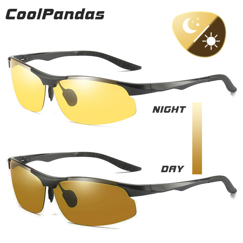 2019 New Men s Sunglasses Day and Night Photochromic Polarized Sunglasses for Drivers Male Safety Driving