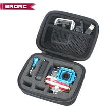 عمل كاميرا حالة حقيبة التخزين حقيبة يد ل Gopro هيرو 3 3 بلس 3 + كاميرا رياضية حالة المحمولة واقية الحقيبة مربع مجموعة إيفا حقيبة