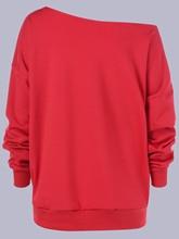 Plus Size Wapiti Print Skew Collar Sweatshirt