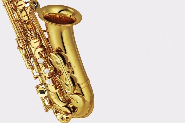 Saxophone New High quality alto saxophone 875EX musical instruments professional E-flat sax alto Gold Big discount yibuy e flat alto saxophone sax mouthpiece cap ligature gold plate 7 good sound