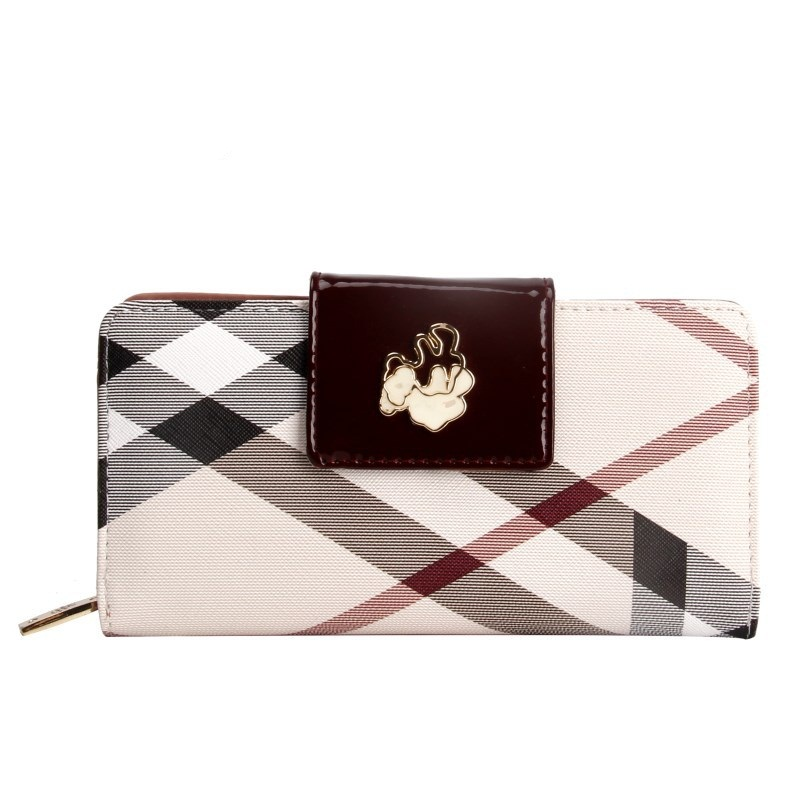 Vintage Fashion Women Stripe Wallet Long Coin Pocket Purse Phone Female Card Holder Pures Lady Clutch Casual