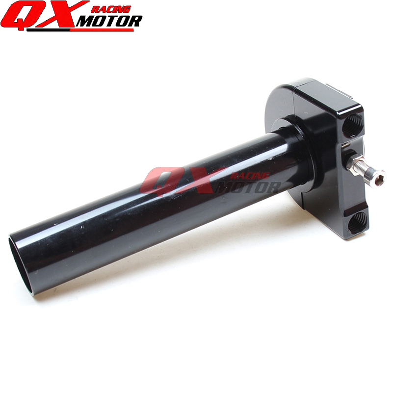 CNC Aluminum Anodized Black Throttle Grips Settle twist gas throttle handle For Gy6 Scooter Motorcycle Modified throttle hand grips brake levers throttle housing set for goped gas scooter 43cc 47cc 49cc minimoto bicycle parts