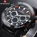 2016 Marca de Fábrica Superior de Buceo LED Relojes de Los Hombres Del Deporte Militar Reloj de Cuarzo de Cuero Genuino Reloj de Los Hombres Relojes de Pulsera Relogio masculino