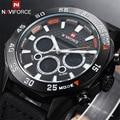 2016 Top Brand Dive LED Watches Men Sport Military Watch Genuine Leather Quartz Watch Men Wristwatches Relogio Masculino
