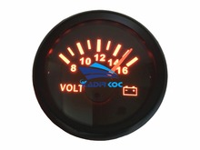 Pack of 1 52mm Pointer Volt Meters Modification 8-16V Waterproof Voltmeters Voltage Gauges LCD Display for Auto Boat Truck