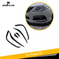 Front Bumper Fins For Volkswagen VW CC R Line 2009 2012 Carbon Fiber Bumper Accessories