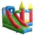 Residencial casa de brinco combo castillo hinchable con tobogán inflable para los niños
