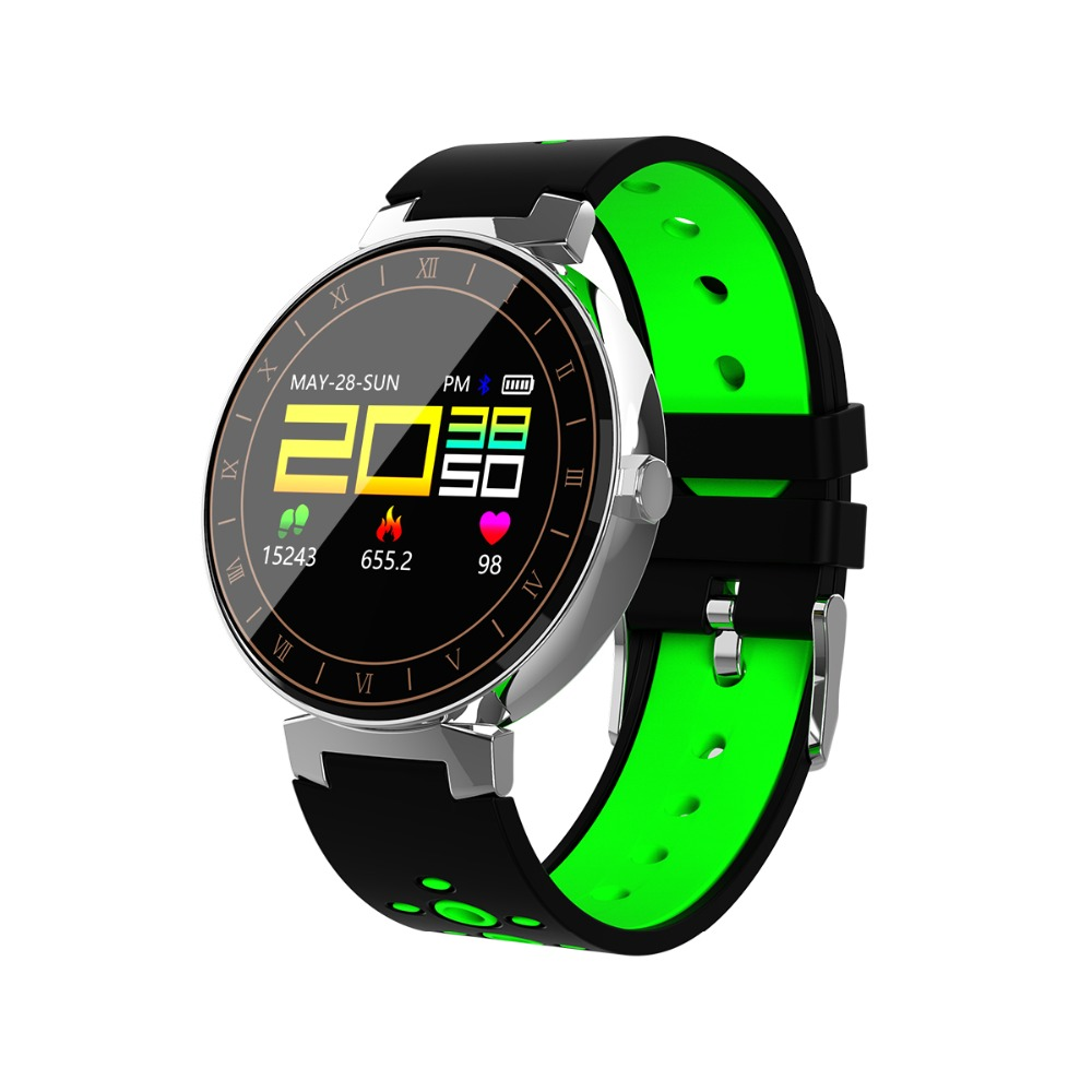 821b12533 696 bluetooth banda inteligente L8 rastreador de Fitness pulsera Multi-modo  del deporte de la pantalla a Color