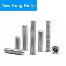 цена на Hex Head Socket Cap Set Grub Screw Hexagon Metric Thread Headless Allen head Cup Point Bolt 304 Stainless Steel M3