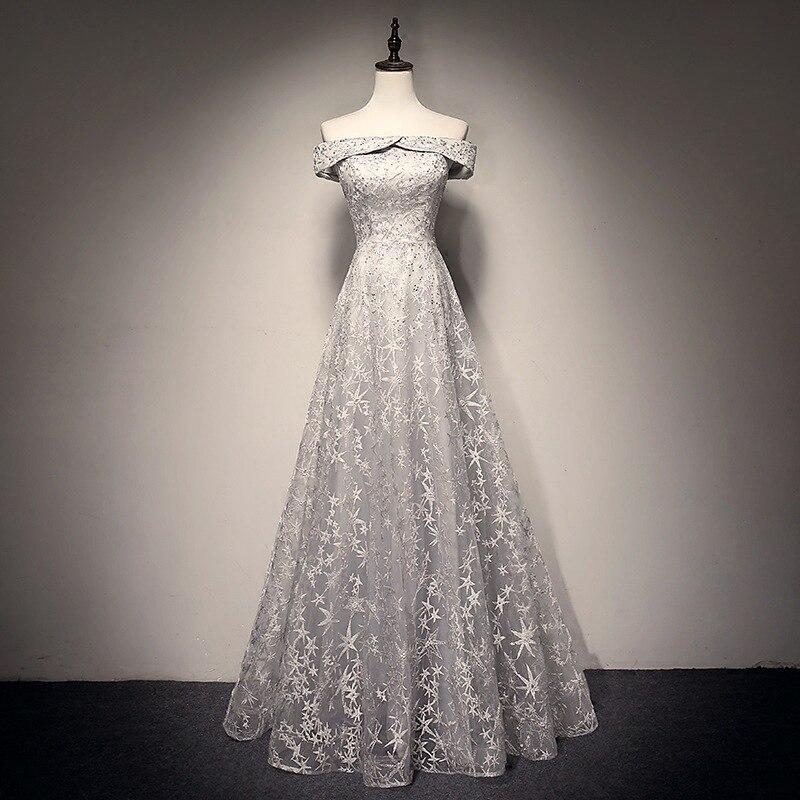 e8a16684d48 SOCCI элегантный вырез лодочкой длинное платье для выпускного вечера es 2019  Бисероплетение Кристалл с открытыми плечами