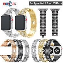 Браслет из нержавеющей стали для apple watch series 5 4 3 2