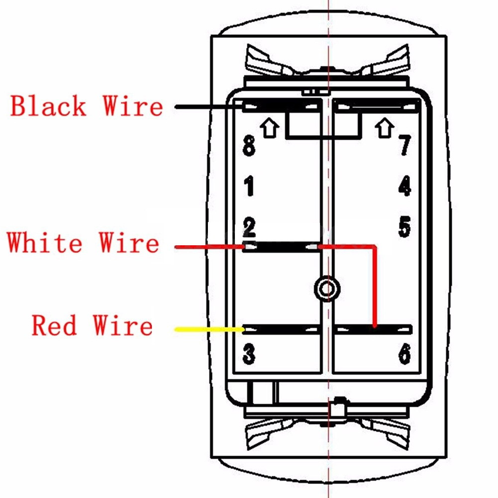 Light Bar Wiring Diagram 24v Detailed Diagrams 2016 Brand New 12 Led On Off Laser Rocker Switch Relay Din Rail