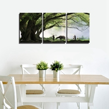 Vintage Home Decorations Chinese Landscape Picture Modular Poster Print Canvas Painting for Living Room Wall Decor Gift 3 Panels 3 panels circular canvas print golden line mountain landscape abstract picture chinese painting for office home decor wholesale