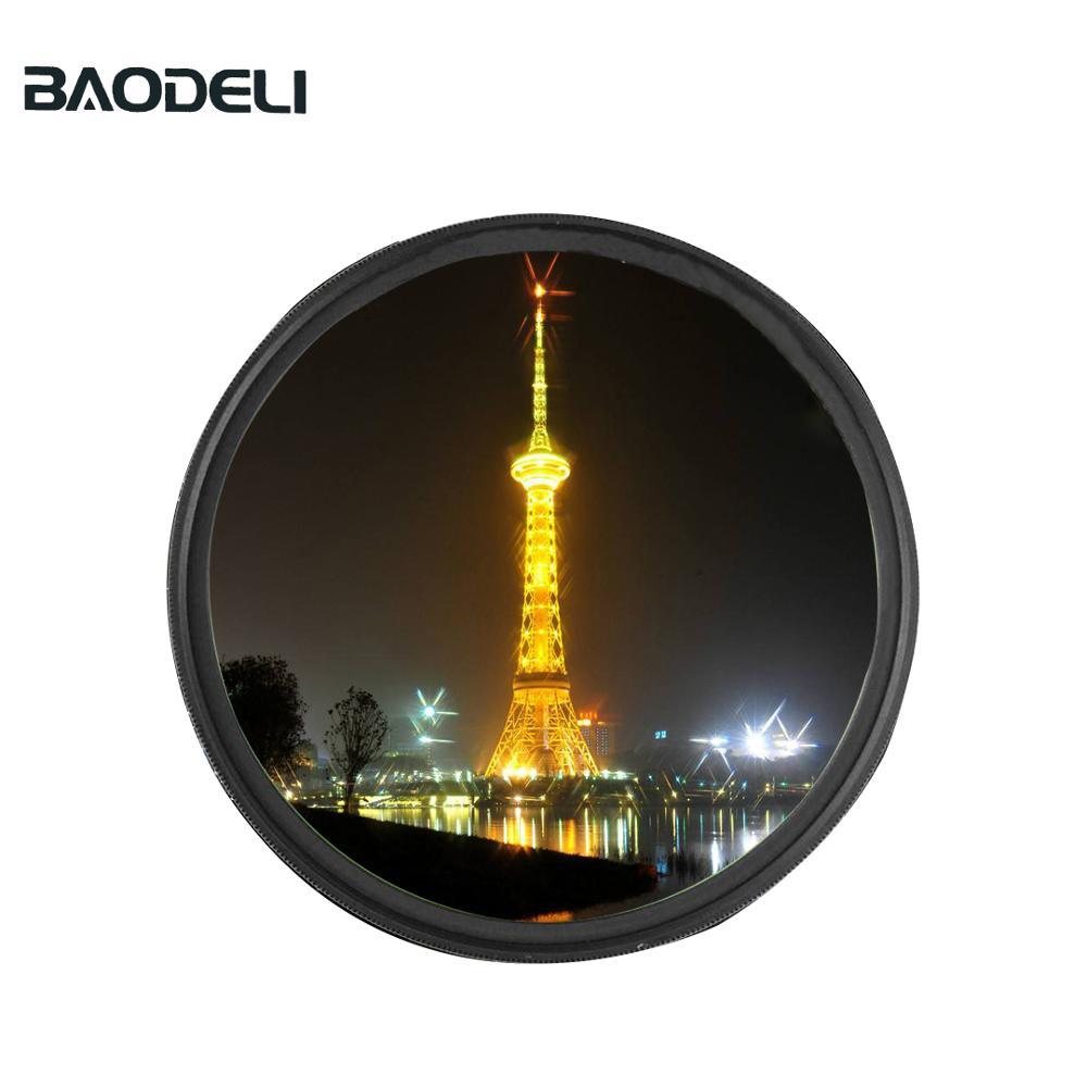 72 BAODELI Camera Lens Filtro Star Filter 6 Point 49 52 55 58 62 67 72 77 82 mm For Canon Dslr Nikon Sony X3000 A600 Accessories (1)