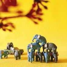 Atacado ~ 10 pces/miniaturas animais/elefantes/bonito/jardim de fadas/casa de boneca/terrário/gnome/estatueta/decoração de mesa para casa/diyc010
