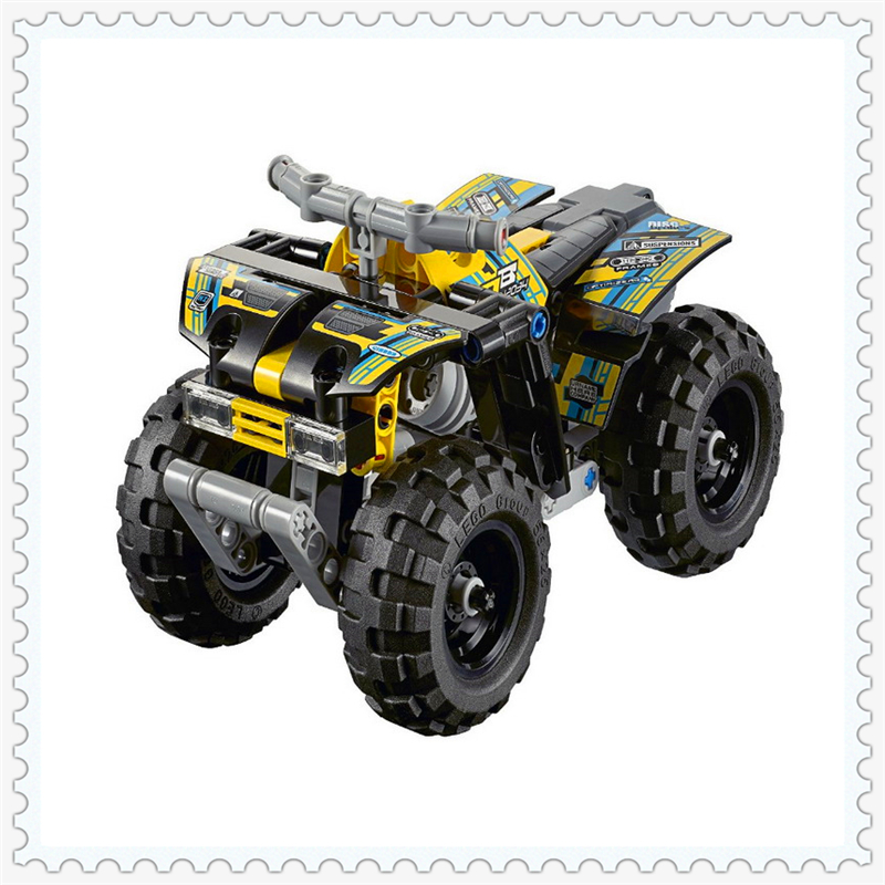 DECOOL 3416 Technic Quad Bike Racing Car Building Block 148Pcs DIY Educational  Toys For Children Compatible Legoe decool 3114 city creator 3in1 vehicle transporter building block 264pcs diy educational toys for children compatible legoe