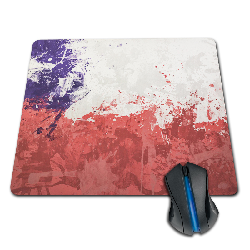 Babaite Stylish Top Selling Chile Flag Style Gaming Gamer Comfort Mousepad for Optical Laser PC Mice Pad Gaming Mouse Pad
