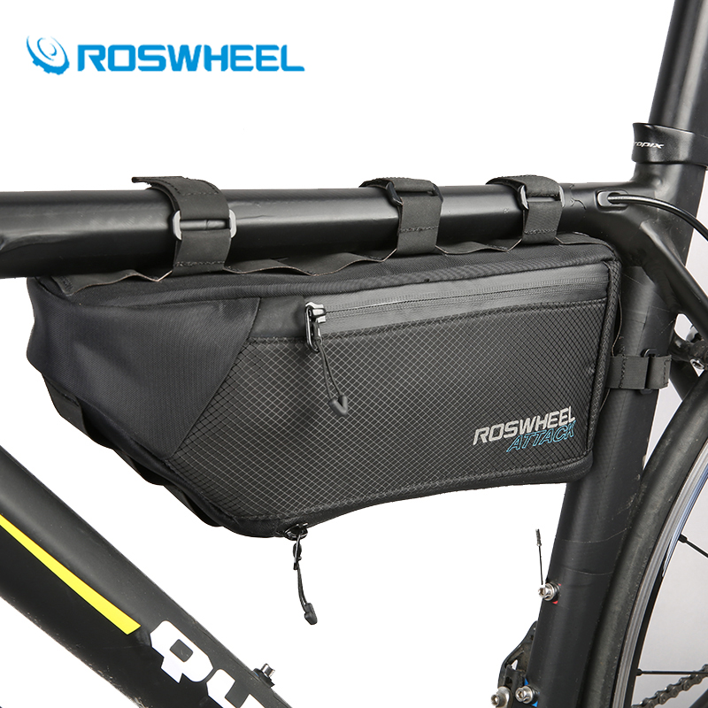 Roswheel 4L Bicycle Triangle Top Tube Bag Waterproof Road Mountain Bike Bag Front Frame Storage Pack Cycling Pouch Accessories 2017 bicycle camera bag bike front tube bag bicycle accessories black road mountain large capacity cycle bike backpack bike bag