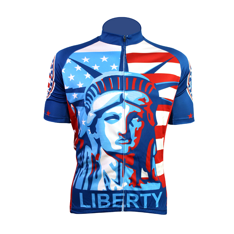 New Statue of Liberty Alien SportsWear Mens Cycling Jersey Cycling Clothing  Bike Shirt Size 2XS TO 01e394ebc