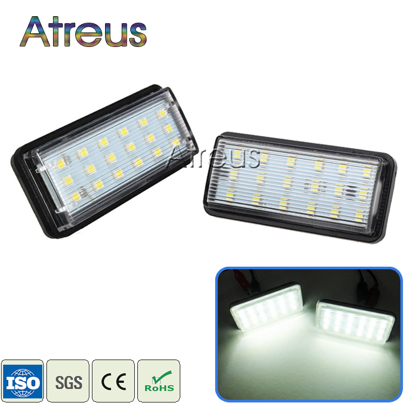Atreus 2X Car LED Luces de matrícula 12V Car-styling para Toyota Land Cruiser 98-07 Prado J120 Reiz 4D Mark X Lexus LX470 LX570
