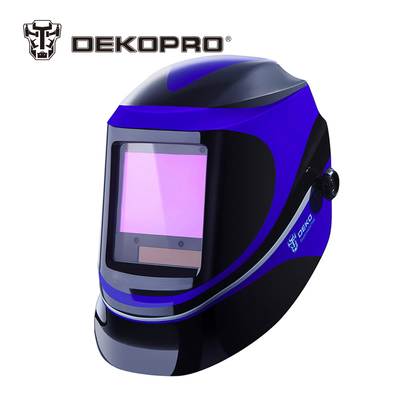купить DEKOPRO Large View Solar Auto Darkening MIG MMA Electric Welding Mask helmet welder Cap welding Lens for Welding Machine по цене 4419.16 рублей