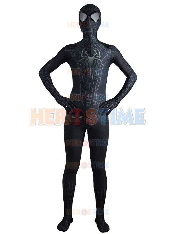2015 <font><b>The</b></font> <font><b>Amazing</b></font> <font><b>SpiderMan</b></font> <font><b>2</b></font> Black <font><b>Costume</b></font> Spider-man Fullbody <font><b>Halloween</b></font> <font><b>Cosplay</b></font> <font><b>Spiderman</b></font> <font><b>costumes</b></font> Hot Sale free shipping