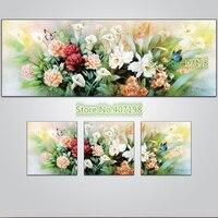 Diamond Embroidery 3D Diy Diamond Painting Full Square Rhinestone Pasted Cross Stitch Mosaic Flower Sets Triptych