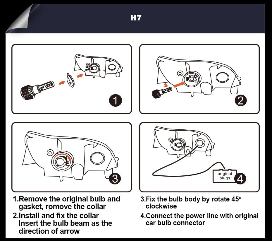 T1 LED CAR HEADLIGHT H4 H7 H11 H1 (17)