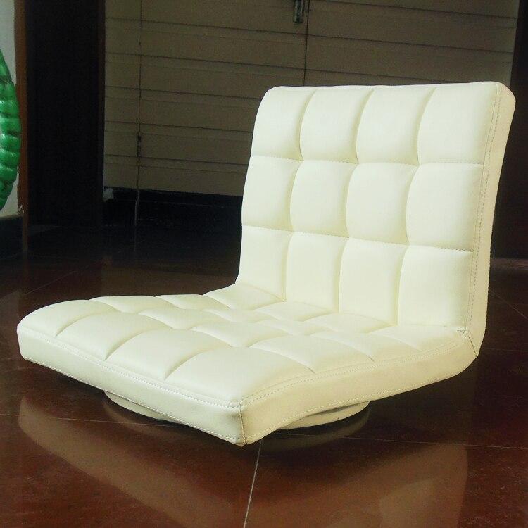 עור מסתובב 360 תואר כיסא רצפת Zaisu טאטאמי בסגנון יפני מושב המדיטציה ריהוט  סלון כיסא חסר