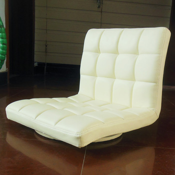 Leather Chair 360 Degree Swivel Living Room Furniture Meditation Seat Japanese Style Tatami Zaisu Floor Legless Chair Design