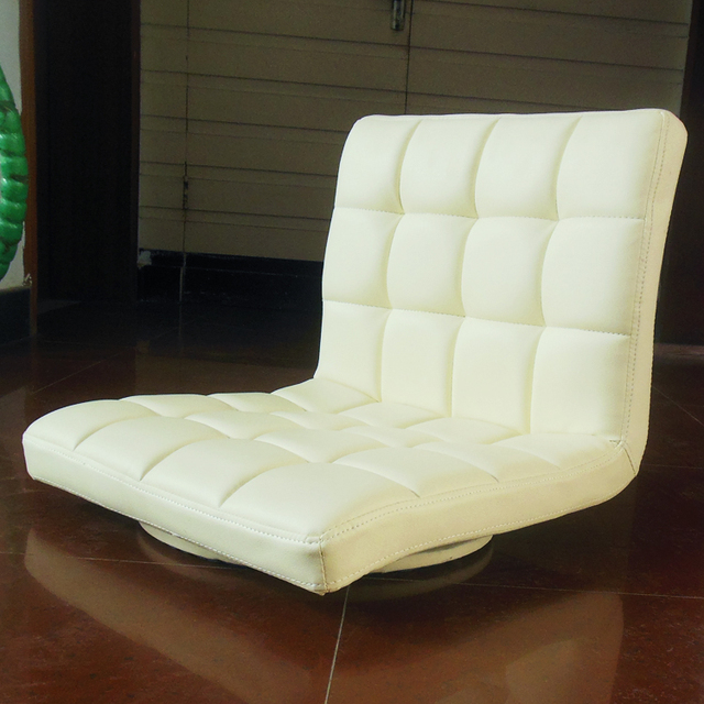 Leather Chair 360 Degree Swivel Living Room Furniture Meditation ...